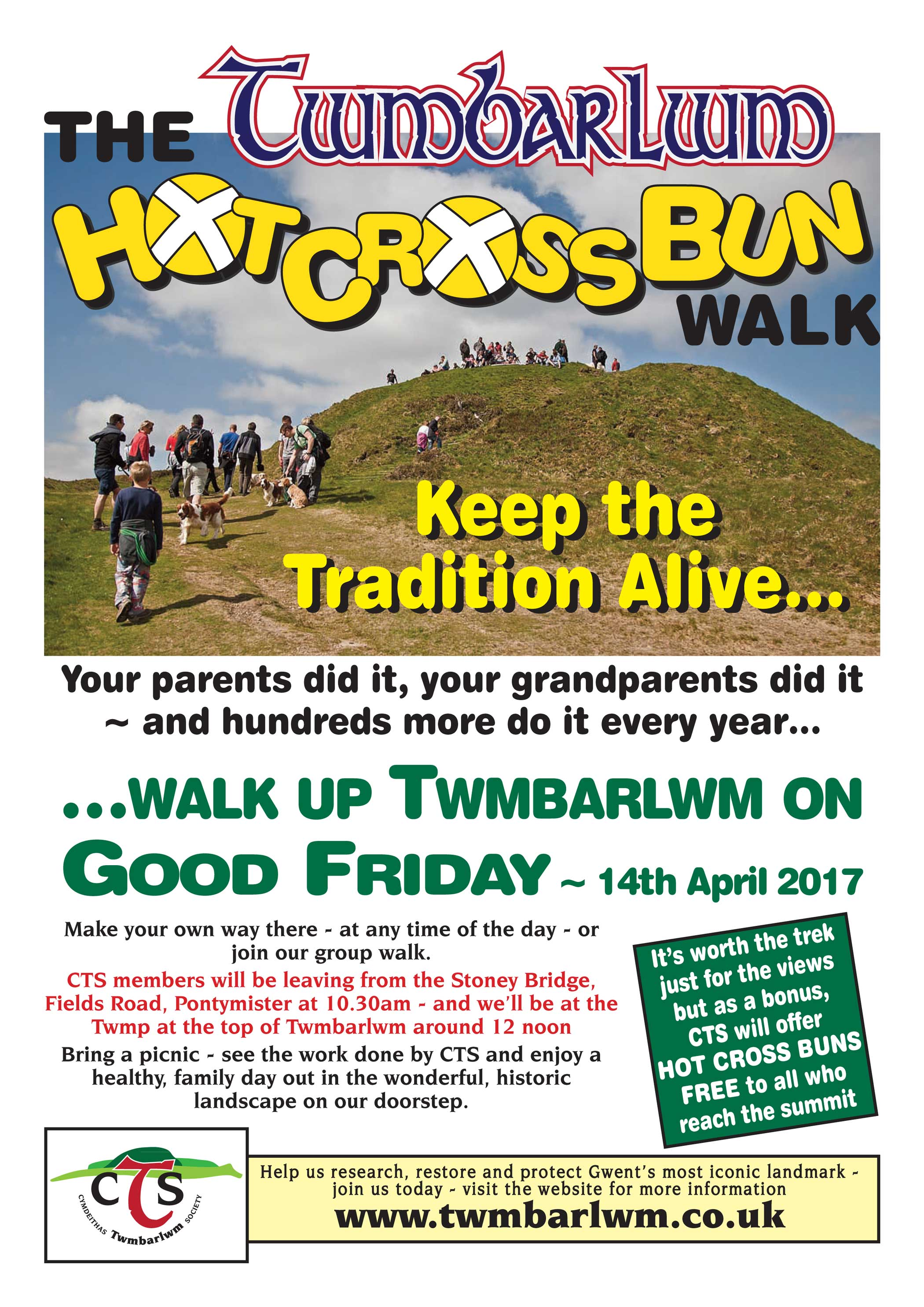 Hot Cross Bun Walk Poster